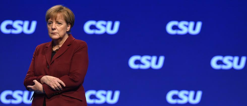 Kanzlerin Angela Merkel beim CSU-Parteitag