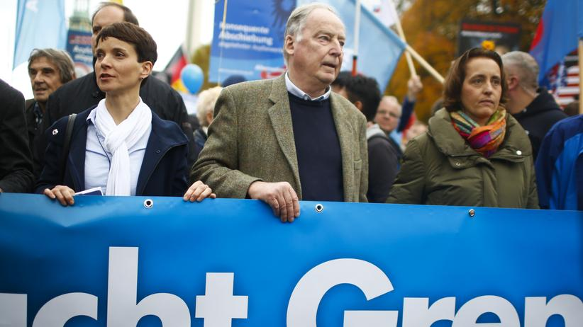 Populism: Leasders of the AfD: Frauke Petry, Alexander Gauland and Beatrix von Storch
