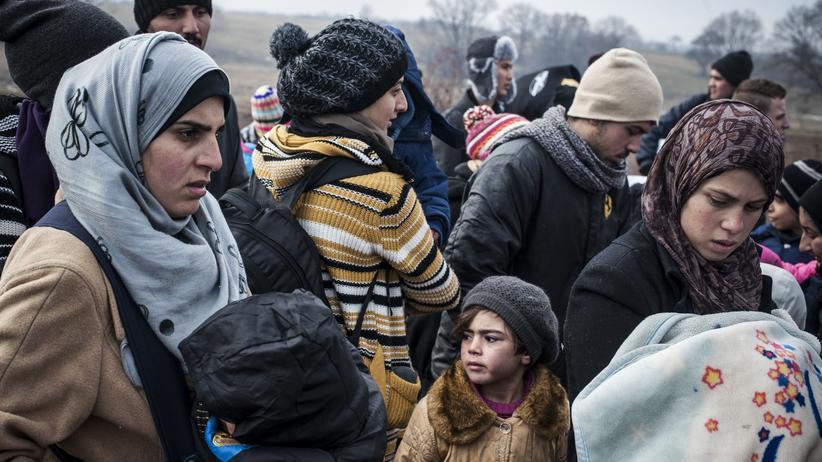 Flüchtlingspolitik: Flüchtlinge an der Grenze in Mazedonien