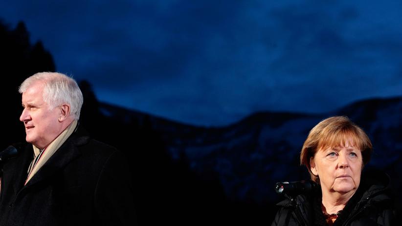 Wildbad Kreuth: Merkel nebst CSU-Chef Seehofer bei ihrem ersten Besuch in Wildbad Kreuth Anfang Januar