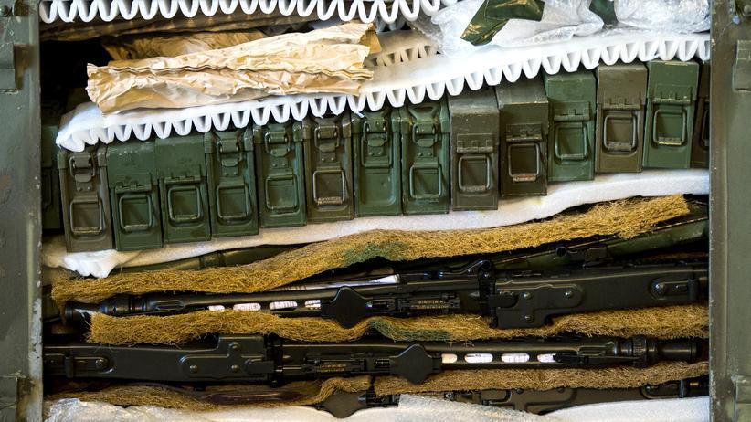 Deutsche Waffen, die an die Kurden im Nordirak geliefert werden