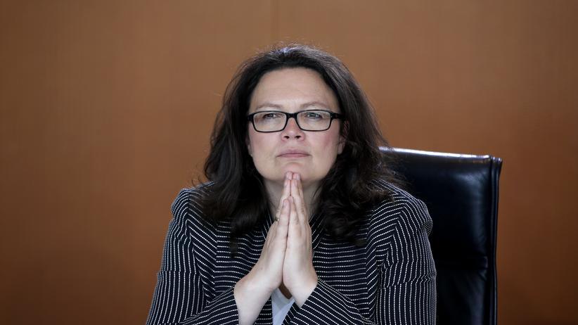 Andrea Nahles: Bundesarbeitsministerin fordert von Flüchtlingen, sich rasch zu integrieren.