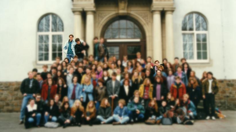 Der Abiturjahrgang 1991 des Rhein-Wied-Gymnasiums, links hinten Björn Höcke, rechts der Autor