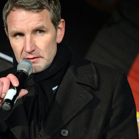 Björn Höcke während der AfD-Kundgebung vor dem Erfurter Dom am 13. Januar