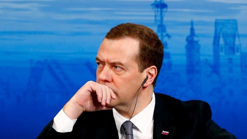 Dmitri Medwedew, russischer Premierminister, auf der Sicherheitskonferenz in München