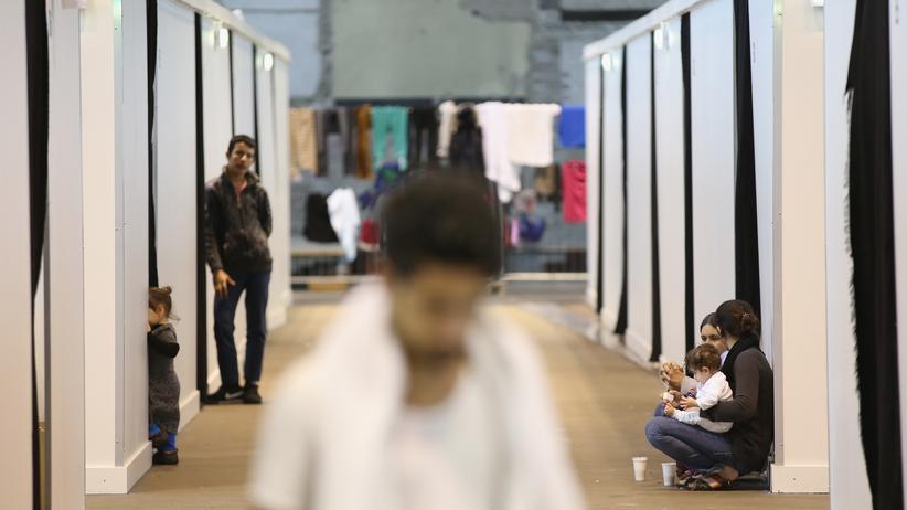 EU-Gipfel: Eine Flüchtlingsunterkunft in Berlin