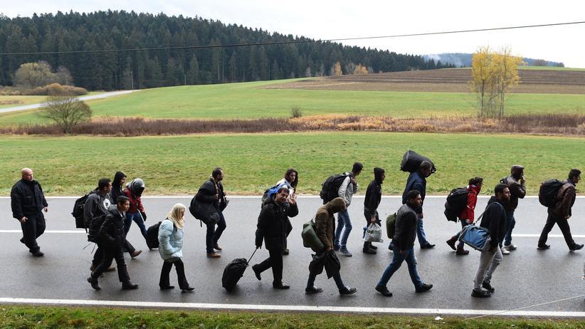 Flüchtlinge bei Wegscheid