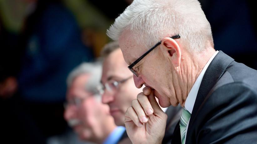 Volker Beck: Winfried Kretschmann vergangene Woche während einer Wahlkampfveranstaltung in Aalen
