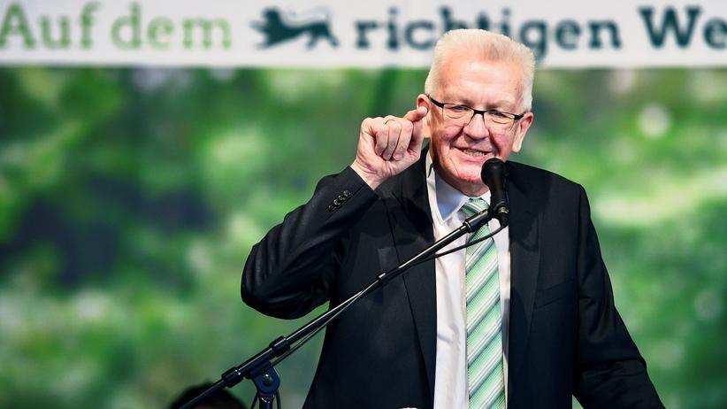 Winfried Kretschmann: Winfried Kretschmann in Aalen