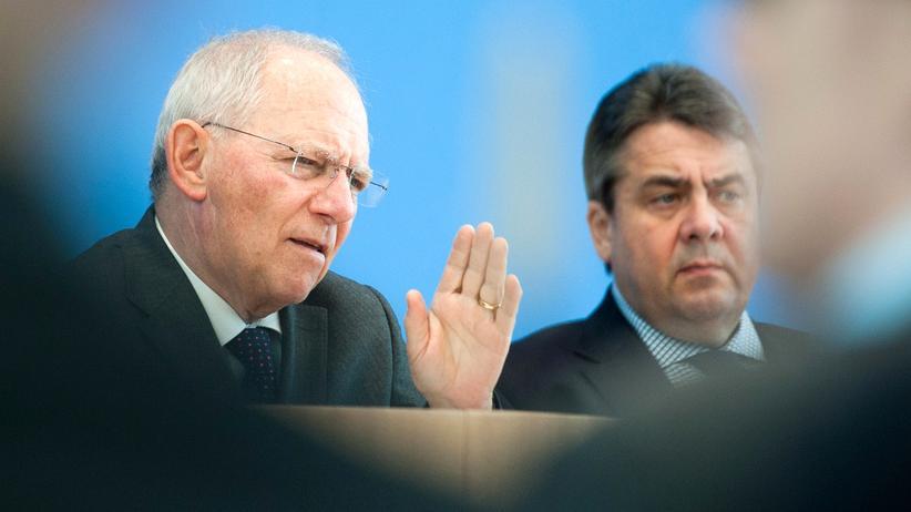 Haushalt: Finanzminister Wolfgang Schäuble (CDU) und Wirtschaftsminister Sigmar Gabriel (SPD)
