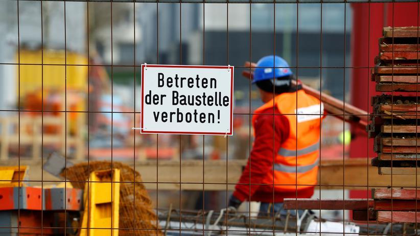 Altersarmut: Arbeiter auf einer Baustelle in Essen