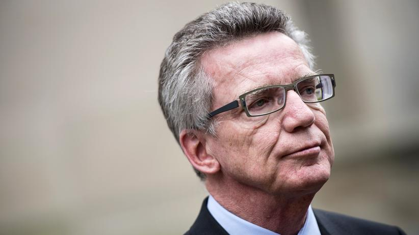 Flüchtlinge: Bundesinnenminister Thomas de Maizière (CDU)