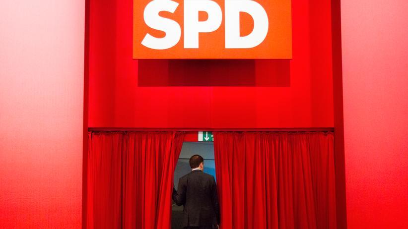 SPD: Ein Abgeordneter der SPD auf einem Parteikongress in Leipzig.