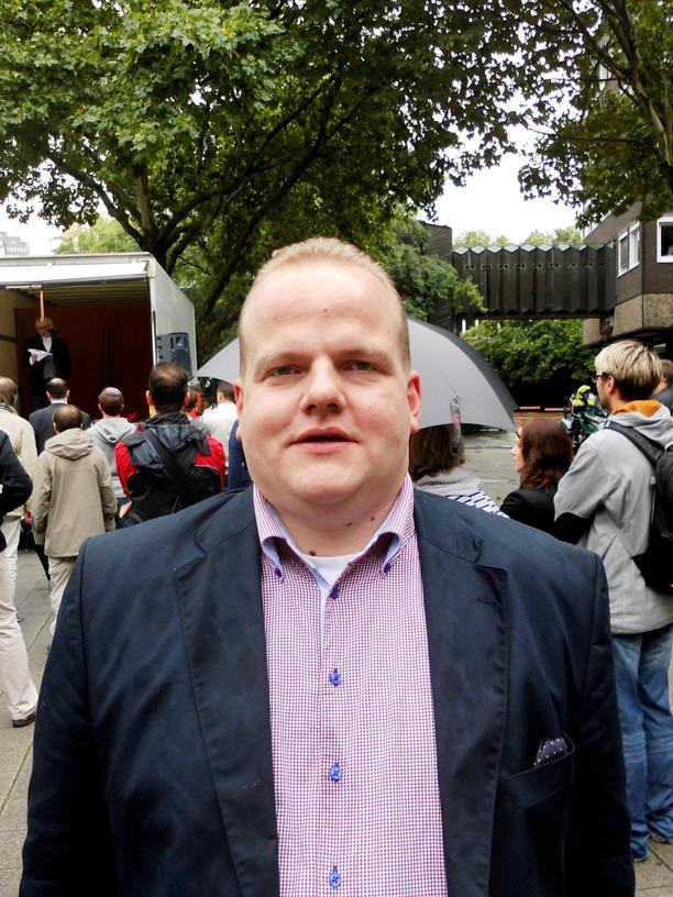Sven Tritschler, der als Teil der Doppelspitze, die Junge Alternative anführt.