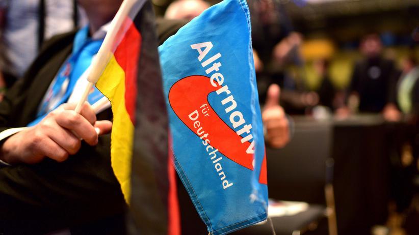 Jan-Ulrich Weiß: AFD-Flaggen auf dem Afd-Kongress in Stuttgart