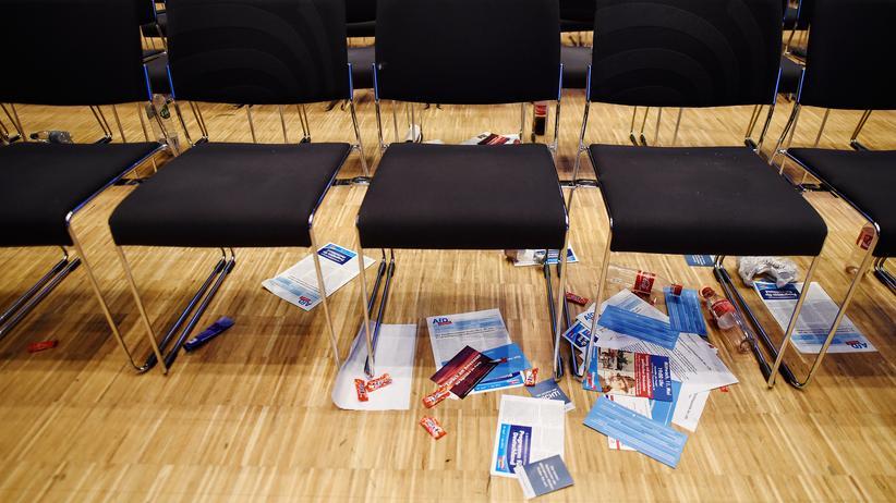 Boateng-Effekt: AfD-Unterlagen auf dem Parteitag in Stuttgart (Archivbild)