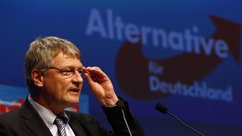 AfD: Jörg Meuthen spricht am 30. April auf einer AfD-Versammlung in Stuttgart.