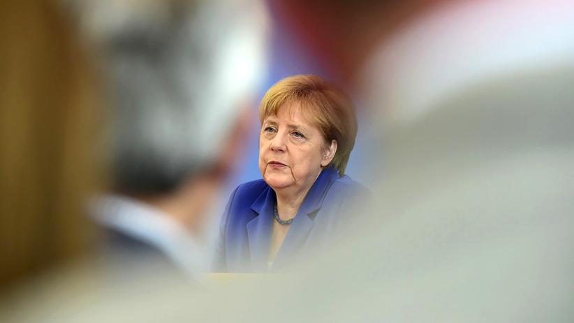 Angela Merkel: Kanzlerin Angela Merkel in der Bundespressekonferenz