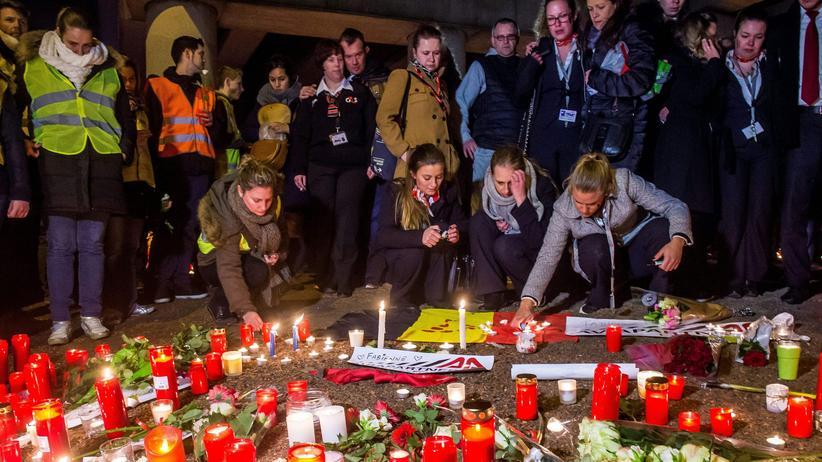 Gedenken nach den Terroranschlägen in Brüssel im März 2016