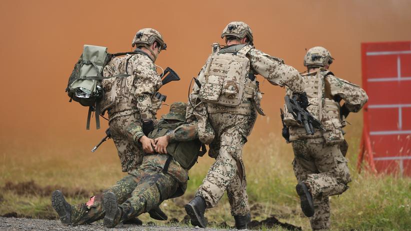 Antiterroreinsatz: Bundeswehrsoldaten bei einer Übung (Archivbild) © Sean Gallup/Getty Images ()