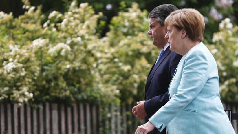 Bundestagswahl: Kanzlerin Angela Merkel und ihr Vize Sigmar Gabriel