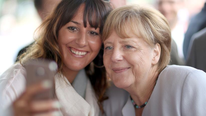 Bundeskanzlerin Angela Merkel Selfie