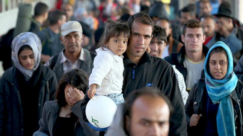Union: Migranten kommen in Berlin an (Archiv)