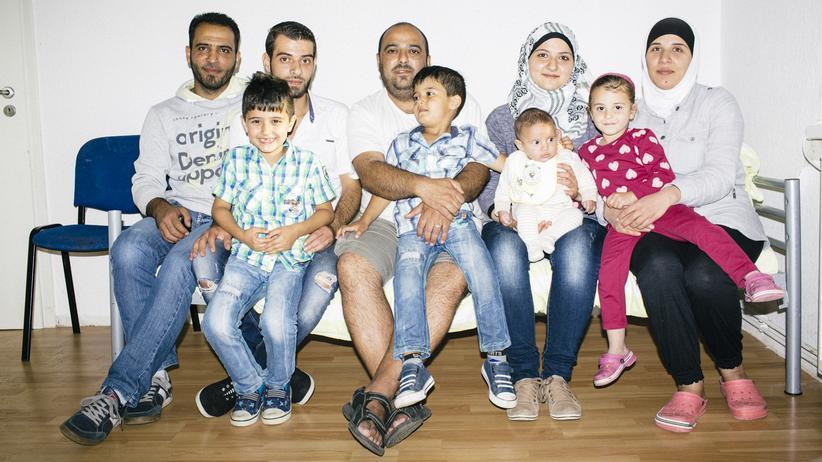 Mallentin: Mohammed Hafni (hinten, zweiter von links) und Familie
