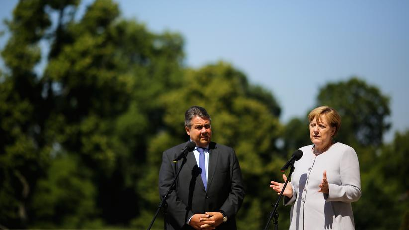 SPD: Bundeskanzlerin Angela Merkel und Vizekanzler Sigmar Gabriel im August in Meseberg