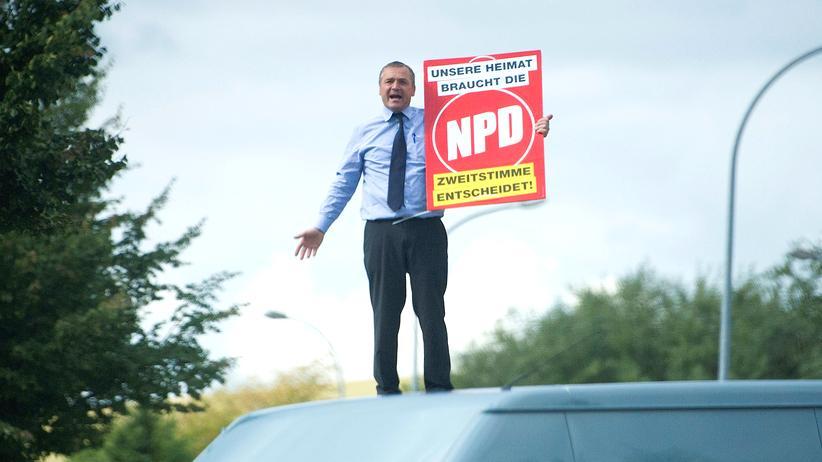 NPD in Mecklenburg-Vorpommern: Udo Pastörs, Spitzenkandidat der NPD in Mecklenburg-Vorpommern, muss um jede Stimme kämpfen.