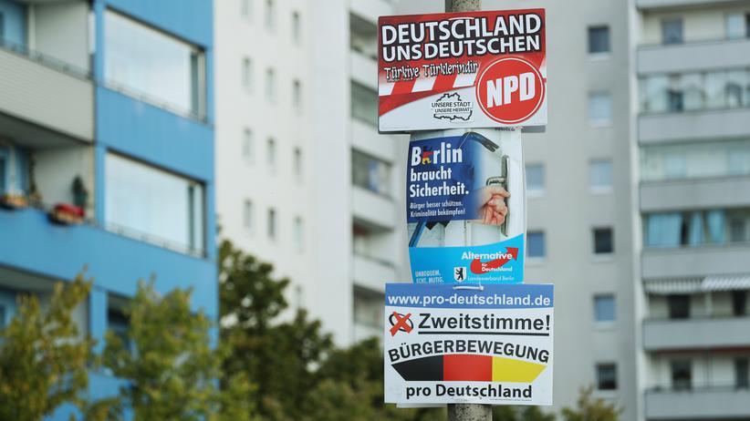 Alternative für Deutschland: Ein AfD-Plakat in Berlin-Hellersdorf