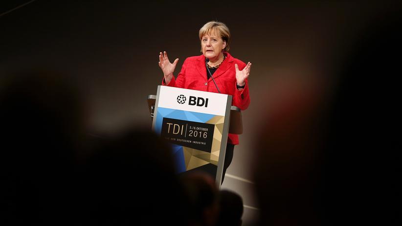 Freihandelsabkommen: Angela Merkel beim Tag der deutschen Industrie in Berlin