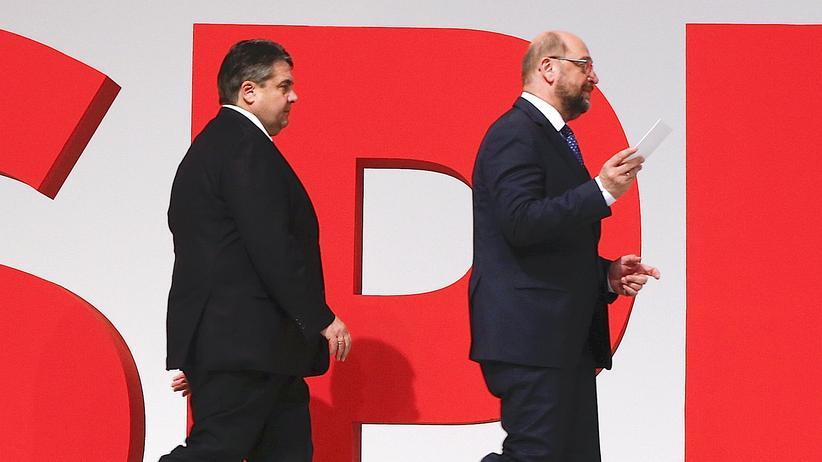 Sigmar Gabriel Martin Schulz SPD