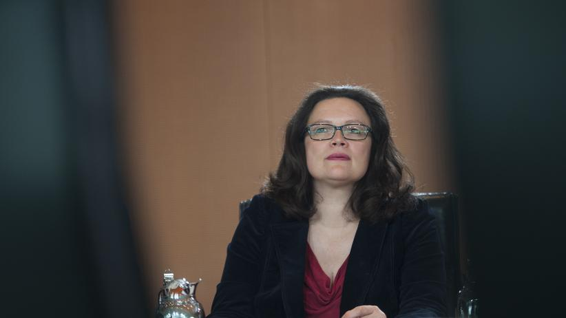 Bundesarbeitsministerin Andrea Nahles Rente