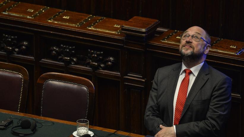 SPD: Blick nach oben: EU-Parlamentspräsident Martin Schulz will in die Bundespolitik.