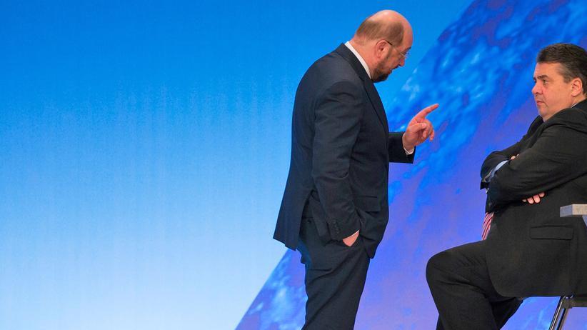 Martin Schulz: Martin Schulz und Sigmar Gabriel