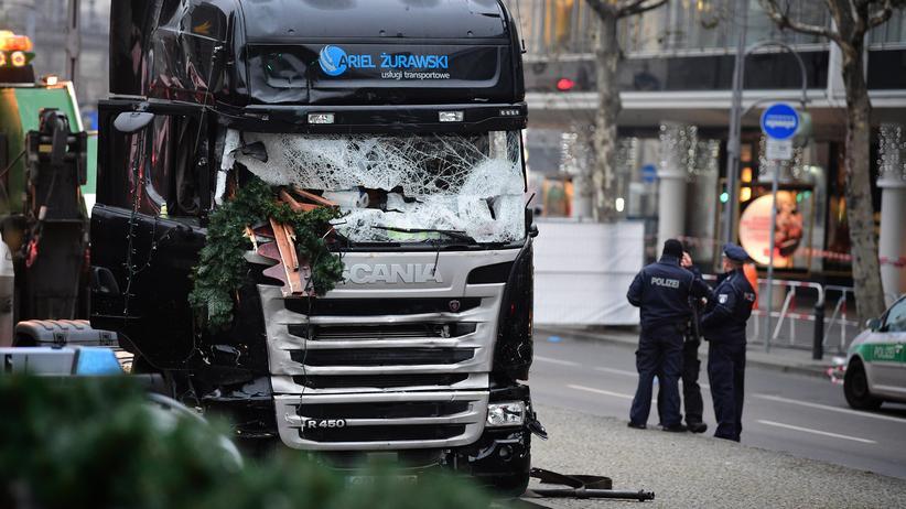 Anschlag in Berlin: Der Lkw, mit dem der Attentäter auf den Weihnachtsmarkt am Berliner Breitscheidplatz fuhr