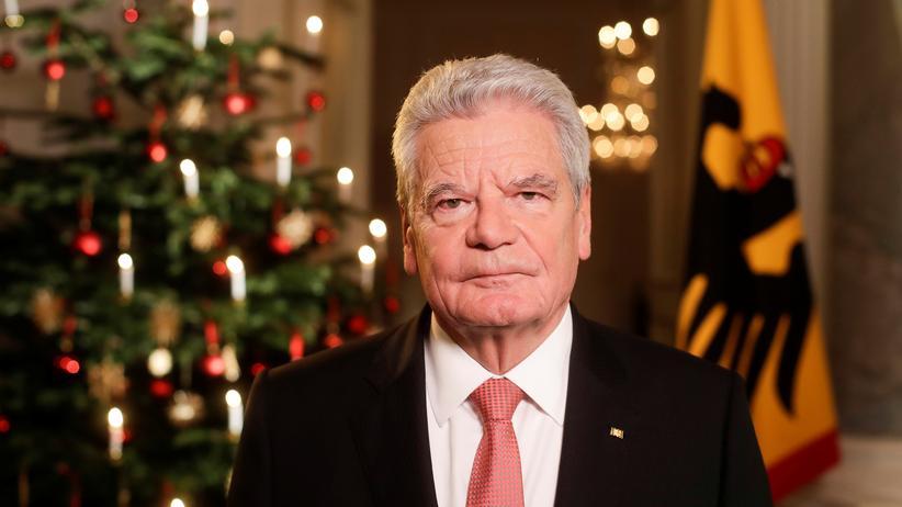 In seiner Weihnachtsansprache mahnte Gauck das Land zu Einheit.