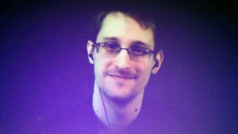 NSA-Ausschuss: Edward Snowden in einer Interview-Liveschalte bei einer Filmpremiere in Amsterdam im November 2016