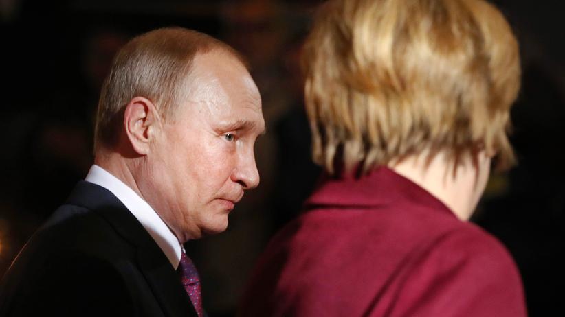 Syrien: Russlands Präsident Wladimir Putin und Kanzlerin Angela Merkel