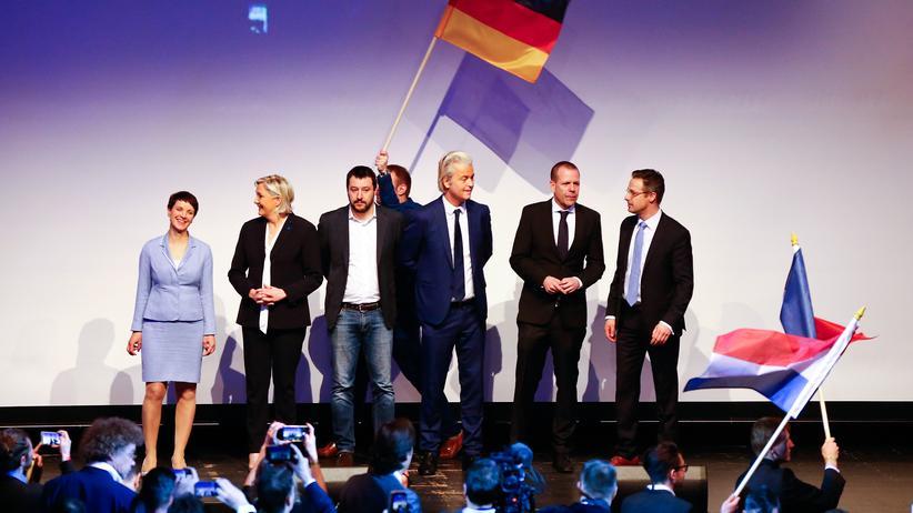 ENF-Tagung in Koblenz: Vereint gegen Europas Vereinigung: Europas Rechtspopulisten treffen sich in Koblenz.