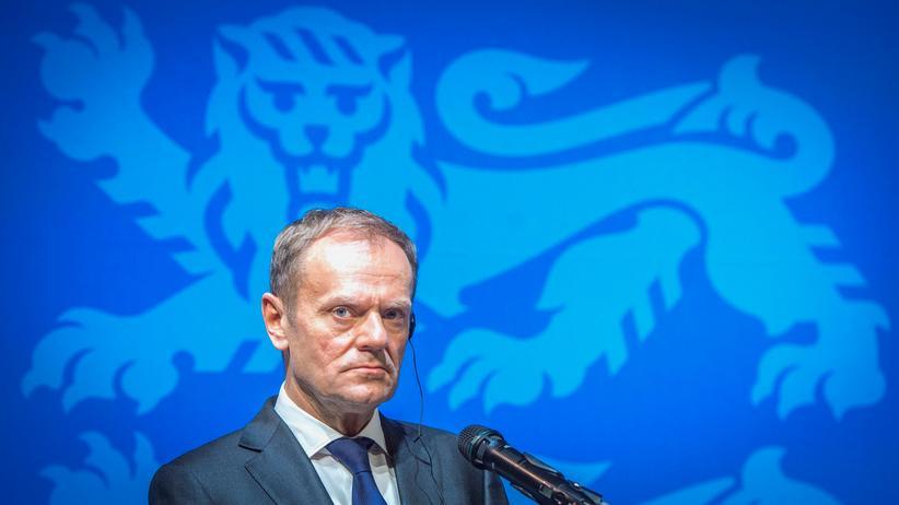EU-Ratspräsident: EU-Ratspräsident Donald Tusk kritisiert Donald Trump.