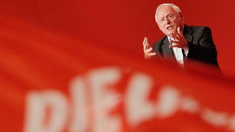 Die Linke: Oskar Lafontaine, Fraktionsvorsitzende der Linken im saarländischen Landtag