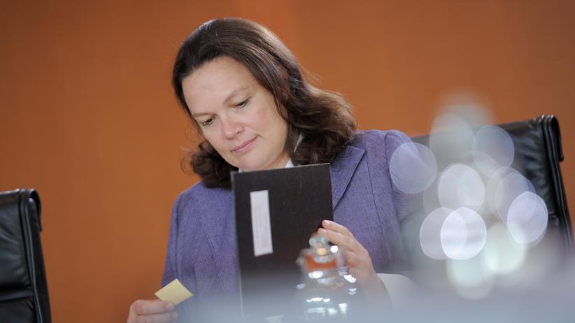 Andrea Nahles bringt im Bundeskabinett heute zwei Gesetzentwürfe ein.