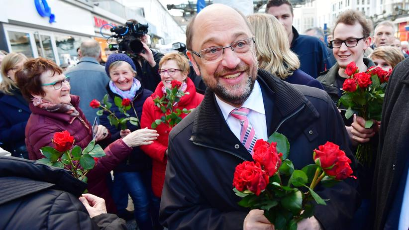 Wahlkampf: SPD-Kanzlerkandidat Martin Schulz Anfang Februar in Saarlouis