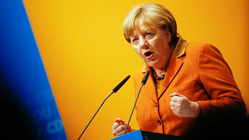 Angela Merkel: Angela Merkel beim politischen Aschermittwoch in Demmin