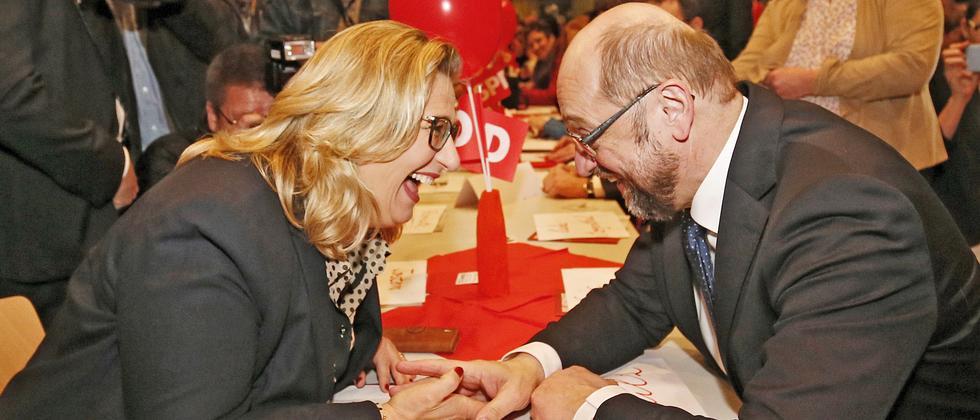 Anke Rehlinger Martin Schulz SPD