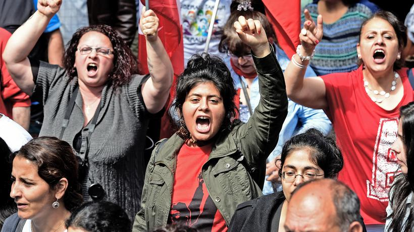 Integration: Gegner des türkischen Präsidenten Erdoğan bei einer Demonstration 2014 in Köln