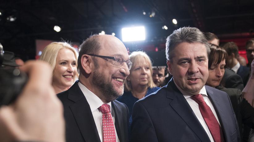 Bundestagswahl: Martin Schulz und Sigmar Gabriel am 19. März in Berlin