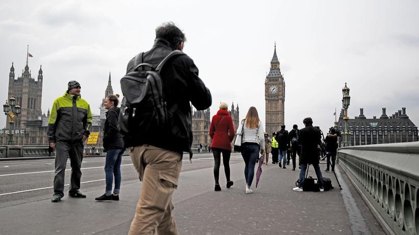 London: Westminster Bridge in London am Donnerstagnachmittag
